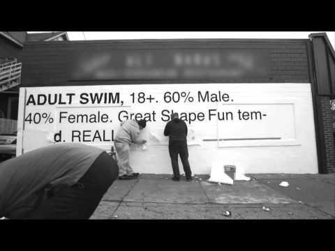 [adult swim] Fax Us B&W Mural
