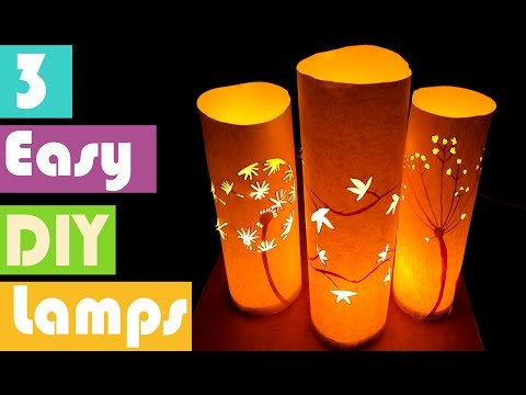 3 EASY DIY LAMPS FOR ROOM DECORACTION