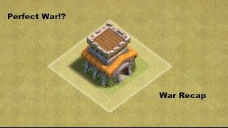 Clash of clans | PERFECT WAR!!!! | War recap |