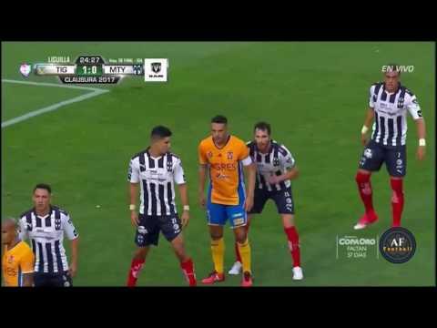 Tigres vs Monterrey 4 1 Cuartos De Final IDA Liguilla Clausura 2017 Liga MX Jugadas y GOLES HD