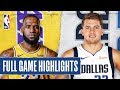 LAKERS at MAVERICKS | FULL GAME HIGHLIGHTS | Nov. 1, 2019