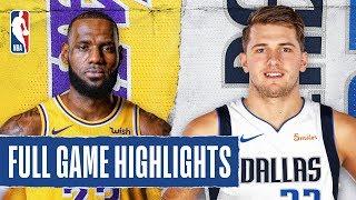 Lakers At Mavericks   Full Game Highlights   November 1, 2019