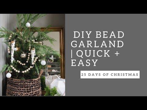 DIY BEAD GARLAND |  Day THREE | 25 Days of Christmas Countdown