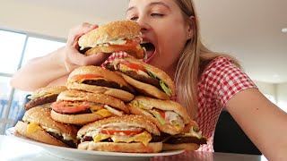 10 X BK Whopper Challenge   GIRLS VS FOOD