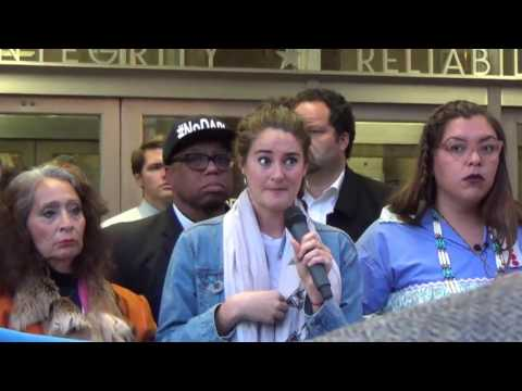 Standing Rock Delegation Sit In at Army Corps of Engineers