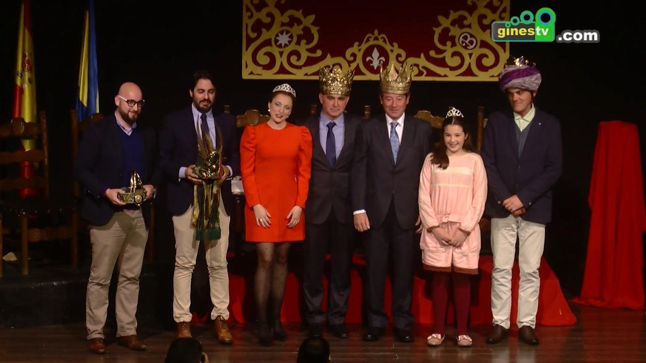 Coronados oficialmente los Reyes Magos y la Estrella de la Ilusión de la Cabalgata de Gines 2018