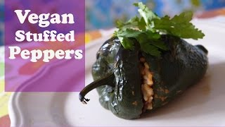 How To Make A VEGAN Stuffed Poblano Pepper : VKL 22