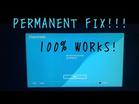 HOW TO FIX PS4 ERROR CODE CE-30002-5