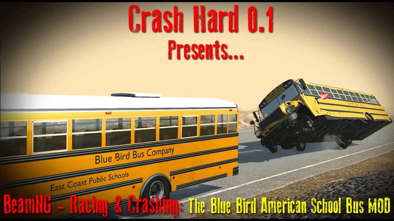 BeamNG - Racing & Crashing: The Blue Bird American School Bus MOD