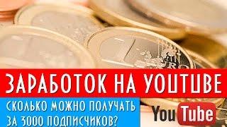 Сколько реально можно зарабатывать на youtube имея 3000 подписчиков? | Дорога видеоблога(, 2015-06-10T15:04:18.000Z)
