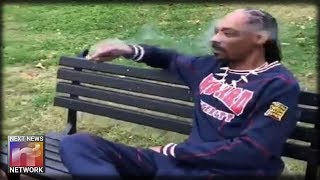 Rapper Snoop Dogg Smokes Blunt, Protests President Trump Outside White House