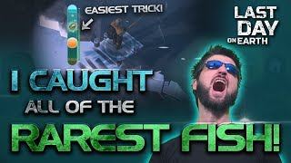 I got ALL of the RAREST FISH in Season 3 of Last Day on Earth