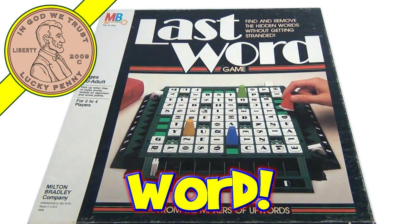 last word board game 4508 1985 milton bradley find remove the
