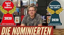 Spiel des Jahres + Kennerspiel 2020 - Die Nominierten + Empfehlungsliste