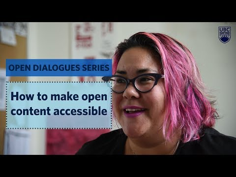Open Dialogues: How to make open content accessible