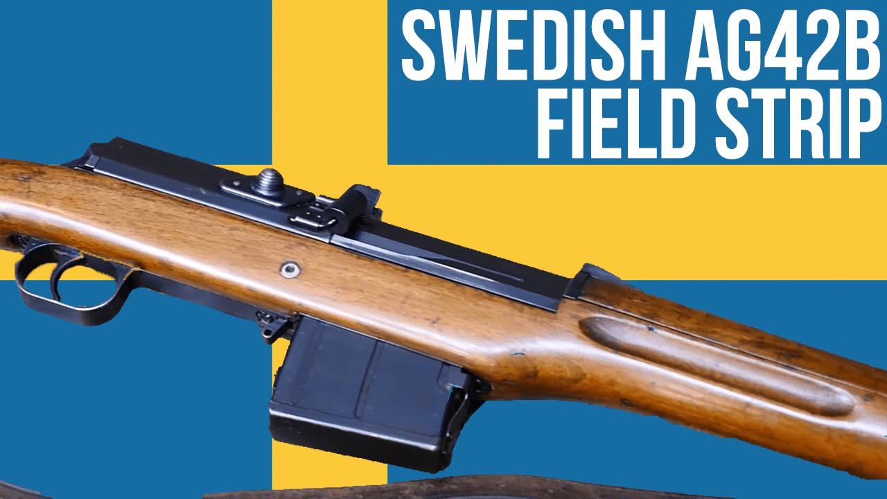 Swedish AG42b Field Strip - YouTube