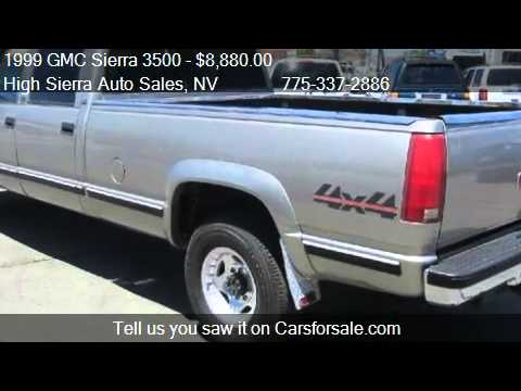 Dually Short Bed >> 1999 GMC Sierra 3500 Crew Cab Short Bed 4WD - for sale in Re - YouTube