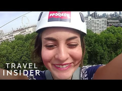 We tried London's newest zip line which shoots you through the air at 30 mph