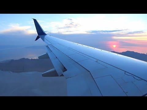 Delta Boeing 737-900ER - Gorgeous Sunset Landing into Salt Lake City Airport