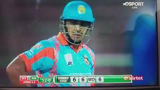 6 ball 6 sixes hazaratullah zazai  Afganistan player