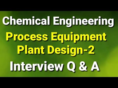 Chemical  Engineering | GATE Exam | Process Equipment And Plant Design | Part 2 | Interview Q & A.