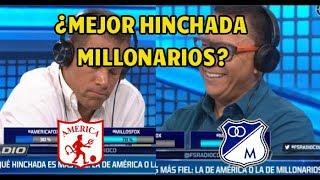 America vs Millonarios ¿Que hinchada es mas FIEL? Analisis Fox