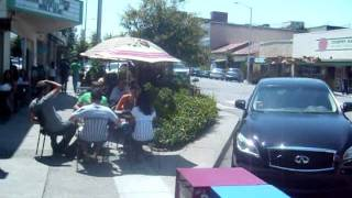 California Avenue (Palo Alto, CA) Restaurants Hi-Jack Sidewalks For Outdoor Diners.