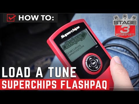How to Load Tune on SuperChips Flashpaq Handheld Tuner