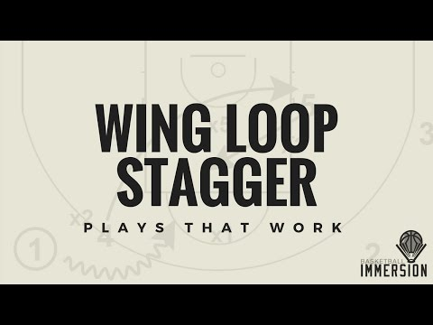 Set Basketball Play: Wing Loop Stagger