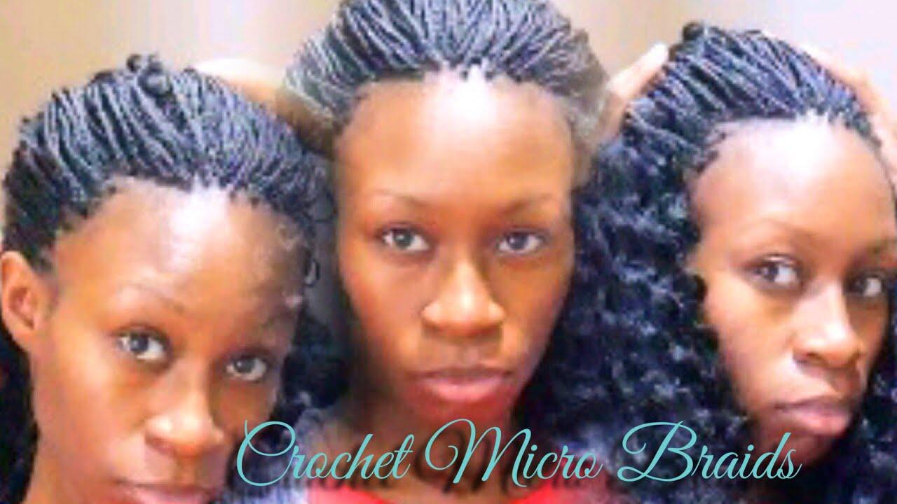 Micro Braids Using Crochet Hair - YouTube