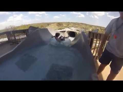 Watersliding at the JW Marriott San Antonio Hill Country Resort