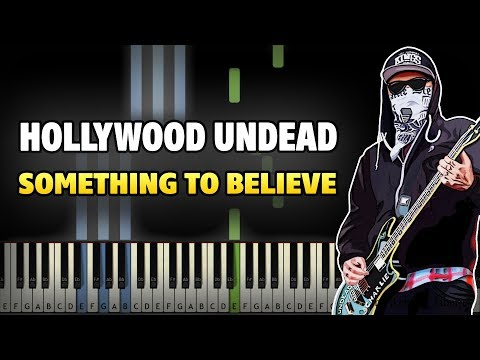 Hollywood Undead - Something To Believe Piano Tutorial (Sheet Music + midi)