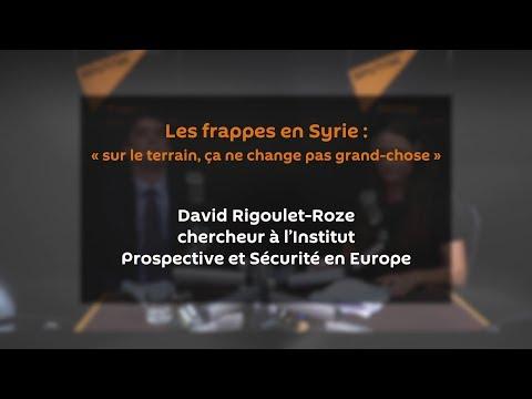 Les frappes en Syrie: «sur le terrain, ça ne change pas grand-chose»