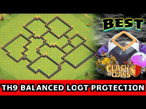 ✅Clash Of Clans: BEST TH9 EQUAL LOOT PROTECTION FARMING BASE 2017 | Town Hall 9 | 7th Gold & Elixir