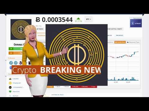 Ormeus Coin $ORME Has Risen 87% In the Last 24 Hours