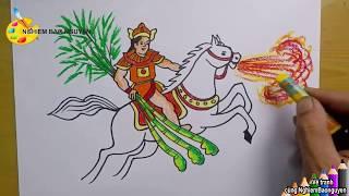 Vẽ tranh minh họa truyện cổ tích - Thánh Gióng