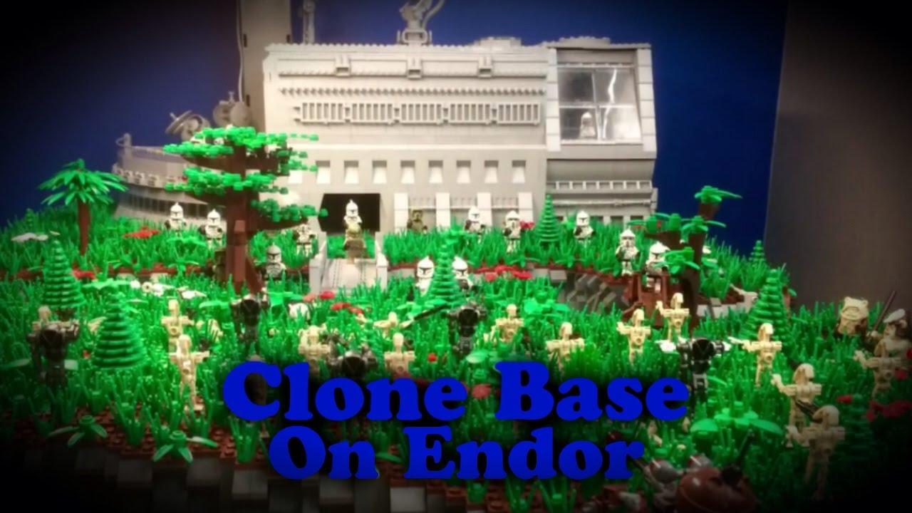 Lego Star Wars Clone Base On Endor Huge Youtube