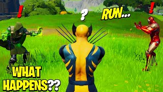 What Happens if ALL 3 Bosses Meet in Fortnite! | Boss Iron Man Meets Boss Wolverine & Boss Dr Doom!