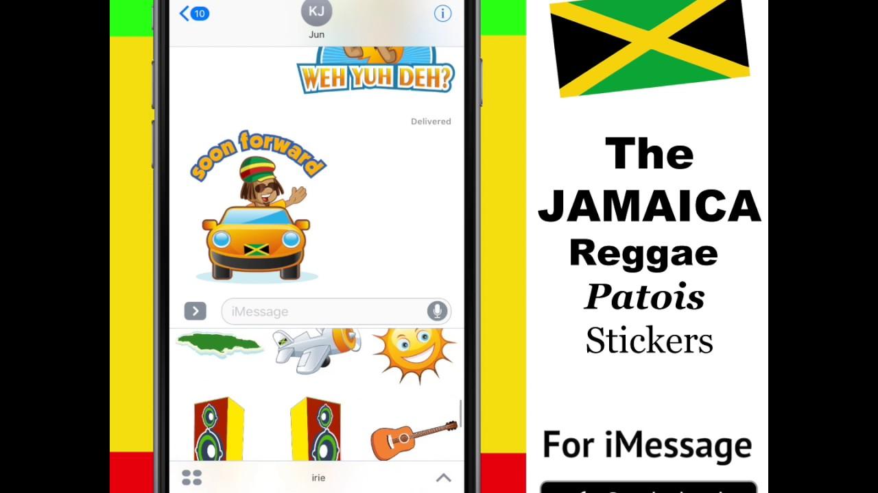 Reggae emoji idrin the reggae jamaican patois stickers