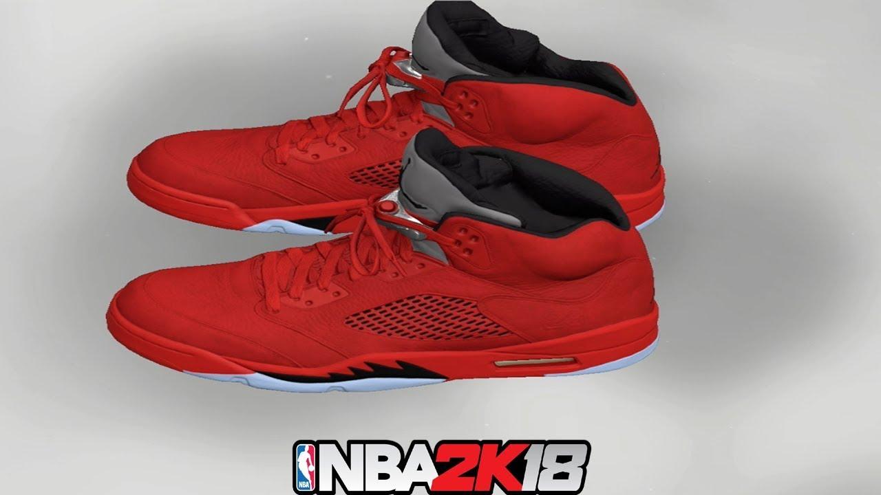 NBA 2K18 Shoe Creator ⋆#NBA2K18⋆ Jordan 5 Red Suede