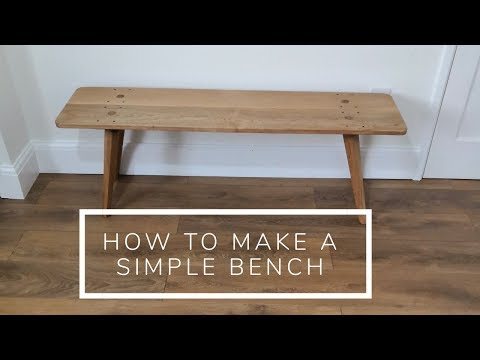How to make a simple bench, with a few hand tools