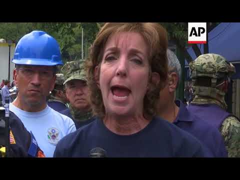 US Ambassador Visits Building Destroyed By Mexico Quake
