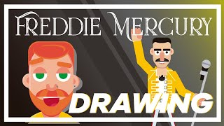 HOW TO DRAW FREDDIE MERCURY - DIGITAL ART