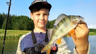 Обловил батю! Папа с сыном на рыбалке. Глебус на рыбалке