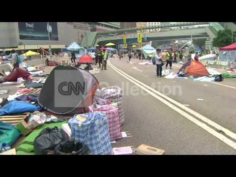CHINA- HONG KONG PROTEST SITES CLEARED