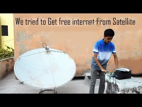 getting free internet from satellite is it .Abs SCIENTIFIC } WORLD