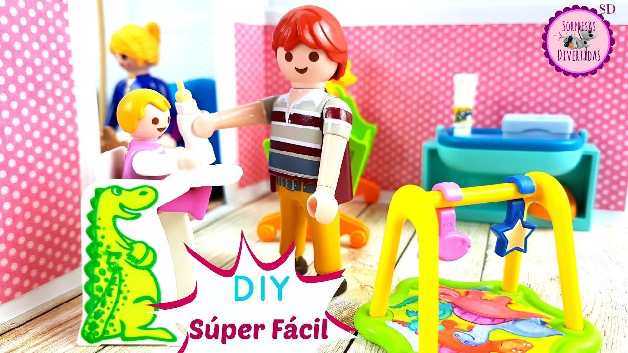 Casita de mu ecas con cartulina para juguetes playmobil - Cosas de manualidades para ninos ...