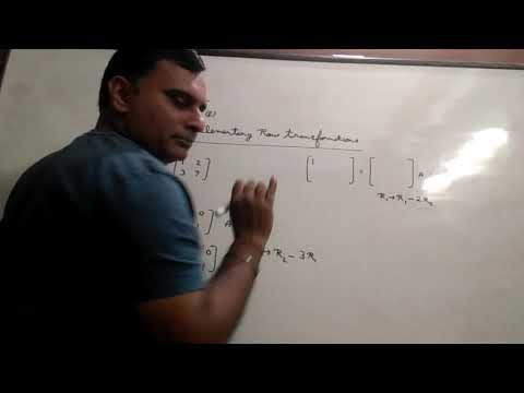 Matrix Of Class Xiith By Ravi Taneja Tenth Video Of Ex 5E