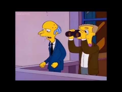 Mr.Burns and Smithers Running Power Plant Together