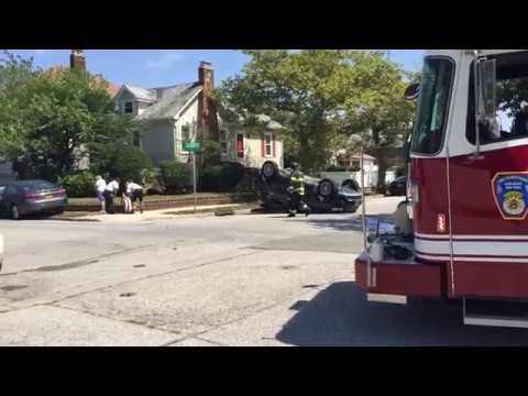 Long Beach, NY Fire, Police, and South Nassau Hospital EMS On Scene of an Overturn MVA